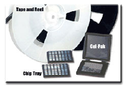 Die Sort Packaging: SMD Tape and Reel, Gel Pak and chip tray